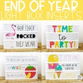 End Of Year Light Box Inserts- Heidi Swapp or Leisure Arts