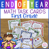 End Of Year Math Task Cards 1st Grade