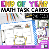 2nd Grade End Of Year Math Task Cards - Print and Digital