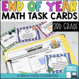 3rd Grade End Of Year Math Task Cards Print and Digital