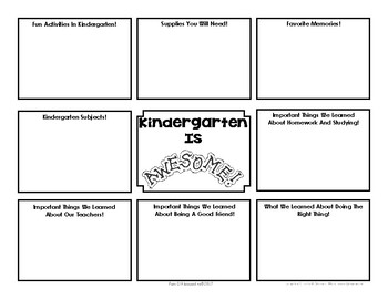 End Of Year Memory Brochure - 'Graduating' Kindergarteners make for new Kinders