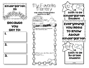 End Of Year Memory Brochure - 'Graduating' Kindergarteners make for new Kinders