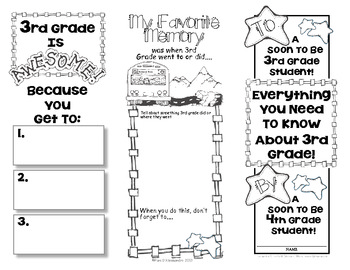 End Of Year Memory Brochure - 'Graduating' 3rd Graders Make For 2nd Graders