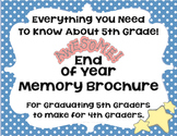 End Of Year Memory Brochure - Graduating 5th Graders Make
