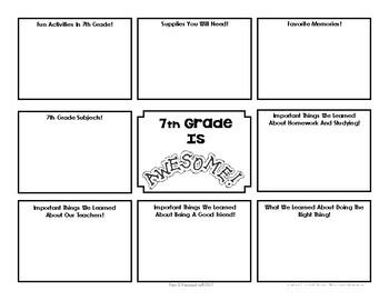 End Of Year Memory Brochure - 'Graduating' 7th Graders Make For 6th Graders