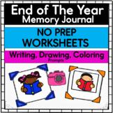 End Of Year Memory Journal - Creative Writing Worksheets