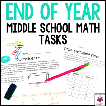End Of Year Middle School Math Activities