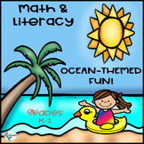 Back to School Ocean Theme Math and Literacy Learning Packet