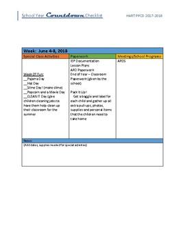 End Of Year Organizational Tool