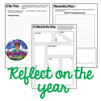 End Of Year Actvities: Reflection and Quick Write Tasks