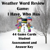 Weather I Have Who Has Vocabulary Review