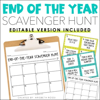 End of the Year Scavenger Hunt!