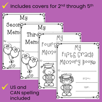 School Year Memory Book Activities