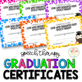 Speech Graduation Certificates