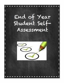 End Of Year Student Self-Assessment