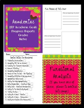 End Of Year Summer Memory  Book & Transition Portfolio Autism/OHI/ODD/ID