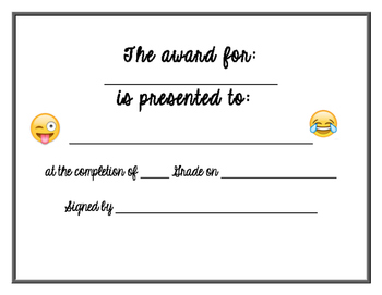 End Of Year Superlative Awards
