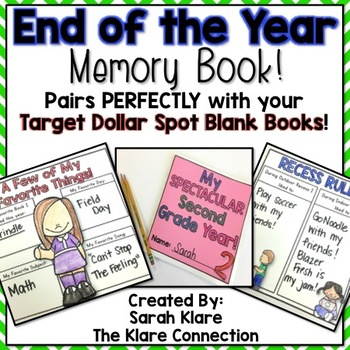 End Of the Year Memory Book- Perfect for Target Blank Books!