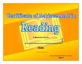 End Of the Year Reading Award