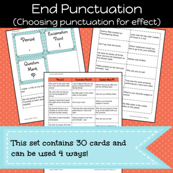 End Punctuation Game/Sort Pack