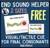 End Sound Helper FREEBIE- for Final Consonant Deletion - Phonological Processing