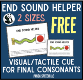 End Sound Helper FREEBIE- for Final Consonant Deletion - Phonological Processing