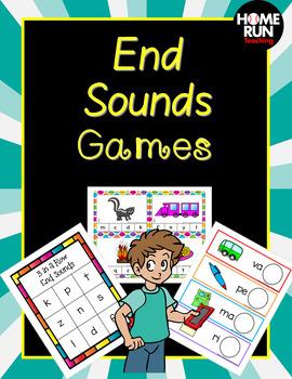 End Sounds Games, phonics, RTI, phonemic awareness