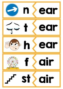 End Trigraph Activity Card Games - for word work or reading practice
