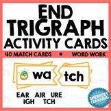 End Trigraph Activity Card Games - ear, air, ure, ugh, tch