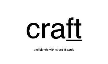 End blends with ct and ft Cards