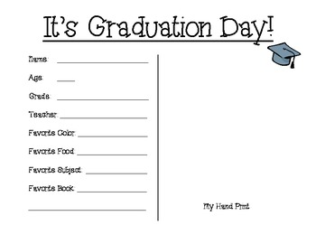 End in the Year/ Graduation Fill in the Blank Keepsake