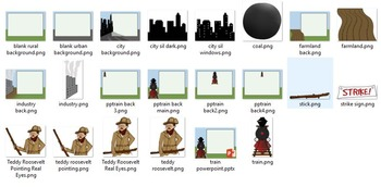 Turn of the Century US History PowerPoint Theme Package