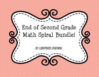 2nd Grade Math Spiral Bundle (End of Year)
