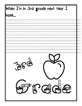 End of 2nd Grade Writing Activity