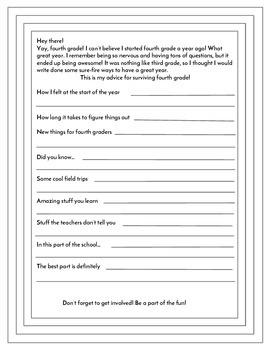 End of 5th Grade Advice Letters