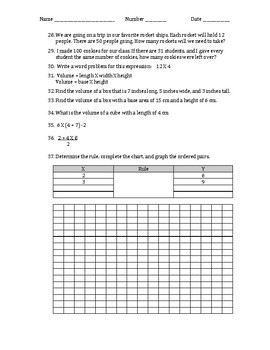 End of 5th Grade Study Guide