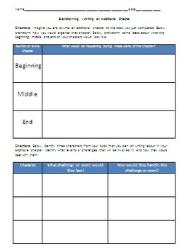 End of Book Unit Project - ELA and Reading