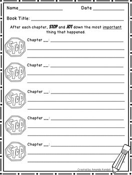 End-of-Chapter STOP and Jot Summary Notes Sheet