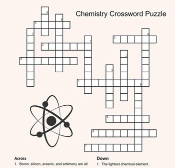 End of Chemistry Unit Crossword Puzzle