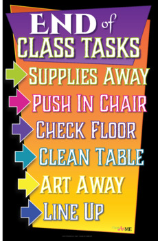 End of Class Tasks Printable Sign