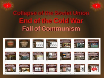 End of Cold War-Collapse of Soviet Union-Fall of Communism COMIC STRIP ACTIVITY
