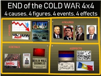 End of Cold War (fall of communism): 4 causes 4 figures 4 events 4 effects