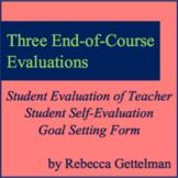 End of Course Student Evaluation of Teacher, Self-Evaluati