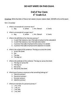 ELA: End of Course Exam