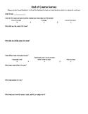 End of Course Exit Survey
