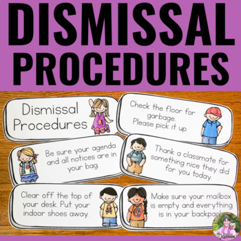 End of Day Dismissal Routine Posters *EDITABLE*