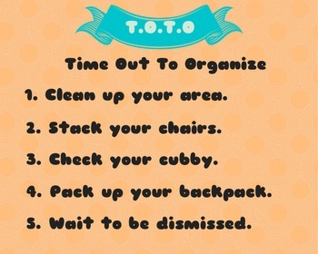 End of Day Clean-up Procedures Poster