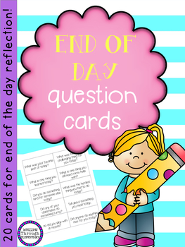 End of Day Question Cards