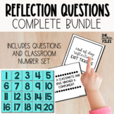 End of Day Reflection Questions (Exit Ticket) {BUNDLE}