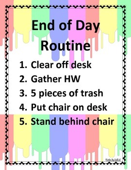 End of Day Routine